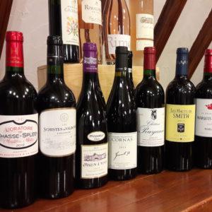 Quelques vins pour accompagner les plats servis aux agapes de l'Arzelier
